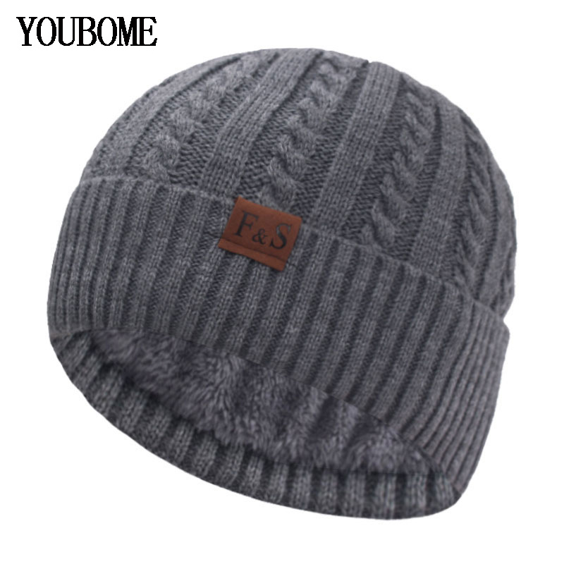 Beanies Knitted Hat Men's Winter Hats For Women Skullies Brimless Cap Gorras Bonnet Sport Male Beanie Warm Thick Winter Hat Cap