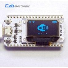 Esp32 0.96 polegadas tela azul oled bluetooth wifi, kit 32, módulo, placa de desenvolvimento da internet para arduino