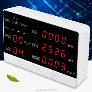Digital Indoor/Outdoor CO/HCHO/TVOC Tester AQI CO2 Meter Air Quality Monitor Detector Multifunctional Gas Analyzer Au03 20