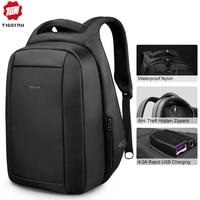 Tigernu Waterproof Anti Theft Male Mochila 15.6inch Laptop Backpack Men USB Backpacks School bags Bagpack for teens travel bag