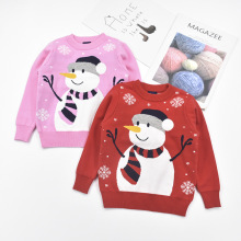 Рождественские свитера со снеговиком для мальчиков и девочек детский Рождественский пуловер плотная теплая трикотажная одежда для детей хлопковые топы с длинными рукавами От 3 до 9 лет