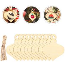 60 szt Niedokończone wycinanki z drewna wycinanki Tag upiększeń wisiorek dla rzemiosła tanie tanio CN (pochodzenie) Unfinished Wood Craft Hanging Ornament DIY Craft Wooden Cutouts Wood Pieces
