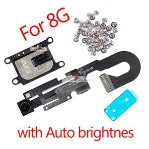 Image 4 - 5 セット/ロットlcdの表示画面iphone 7 グラム 7 8 プラス金属小さな部品保護カバー耳スピーカーフロントカメラフレックス