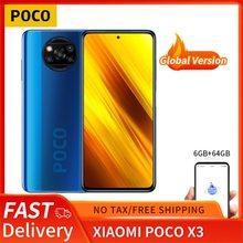 Poco x3 6gb 64gb/128gb smartphone snapdragon 732g octa núcleo 6.67