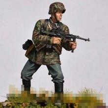 Масштаб 1/35, Неокрашенная каучуковая фигурка солдата с подпистолетом, коллекционная фигурка