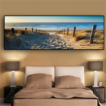 TTLIFE Canvas Paintings Wall Art Landscape Paintings Modern Beach Abstract Picture for Home Living Room Decor No Frame