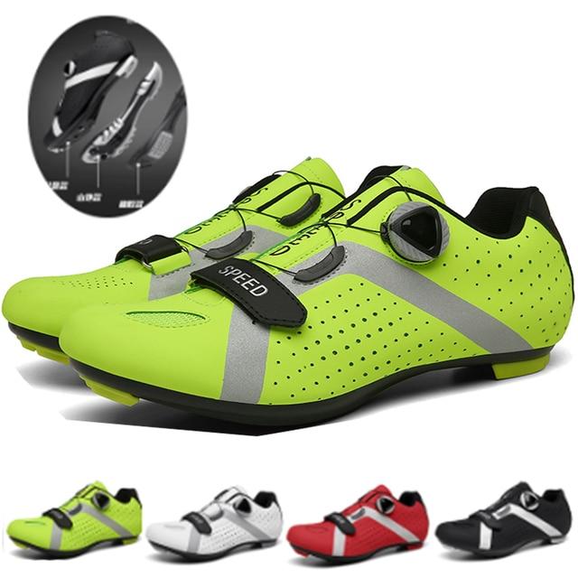 Profissional atlético sapatos de bicicleta mtb sapatos de ciclismo homem auto-bloqueio sapatos de bicicleta de estrada 1