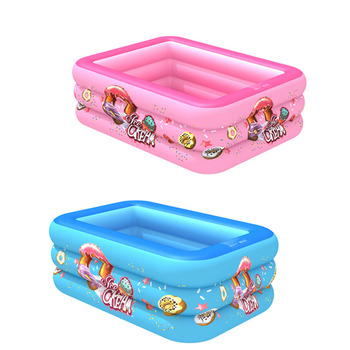 Swimming Pool Children's Baby Paddling Square Bubble Bottom Inflatable Pool Swimming Supplies Toddler Games Piscina Kid Pool