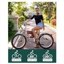Bici elettrica 1000W bicicletta elettrica classica Vintage bicicletta elettrica Fat Bike Beach Retro Bike Cruiser bicicletta elettrica e Bike