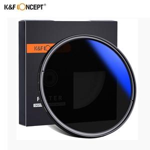 Image 1 - K & F CONCEPT 37 82mm 52MM 58MM 62MM 67MM 72MM 77MM smukły suwak zmienny filtr obiektywu ND regulowany ND2 do ND400 neutralna gęstość