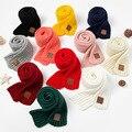 Детский зимний шарф, Детские теплые вязаные однотонные шарфы для женщин, мальчиков, девочек, мягкий детский шарф, женские толстые теплые чер...