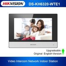 Hikvision DS-KH6320-WTE1 monitor sem fio padrão do ponto de entrada wifi da tela táctil da estação interna 7-Polegada do vídeo porteiro