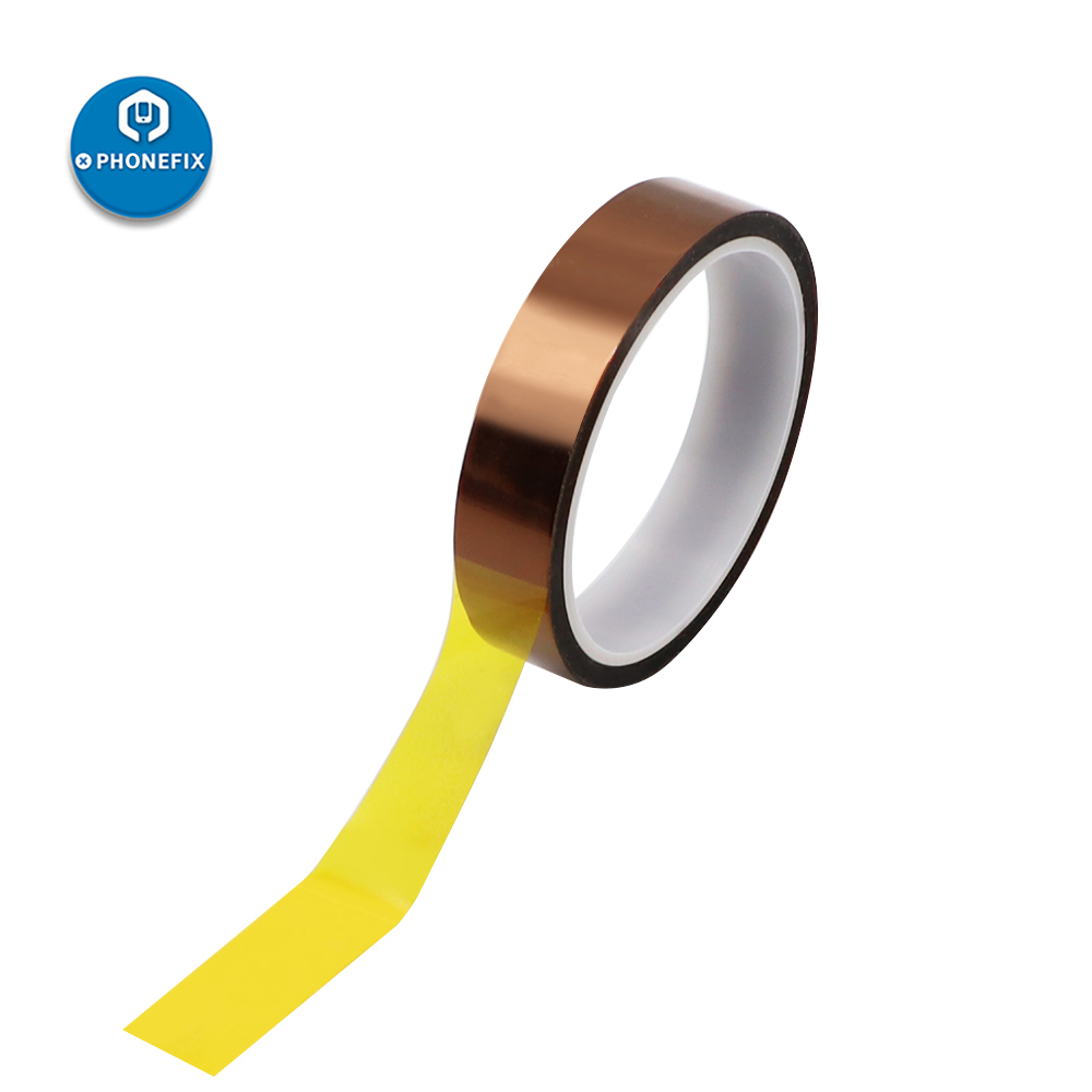 PHONEFIX 33M 5mm BGA Heating Tape High Temperature Resistance Tape Amber Polyimide Sticker For Phone PCB SMT Soldering Protect
