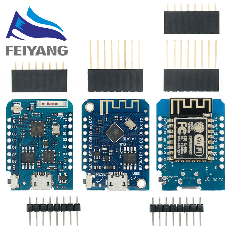 Things-Development-Board Based-Esp8266 CH340G Wemos D1 Lua Wifi Internet Nodemcu Mini Pro