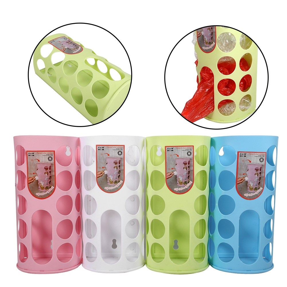 Wall-mounted Garbage Bags Tray Storage Box Garbage Bag Basket Plastic Bags Holder Rack Home Kitchen Accessories