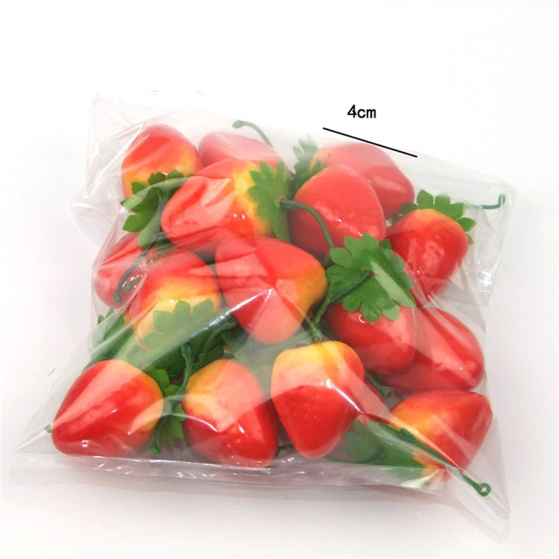 20Pcs/Set Plastic Artificial Simulation Mini Fake Fruit Decor Apple Orange Lemon Strawberry Props Home Party Decoration