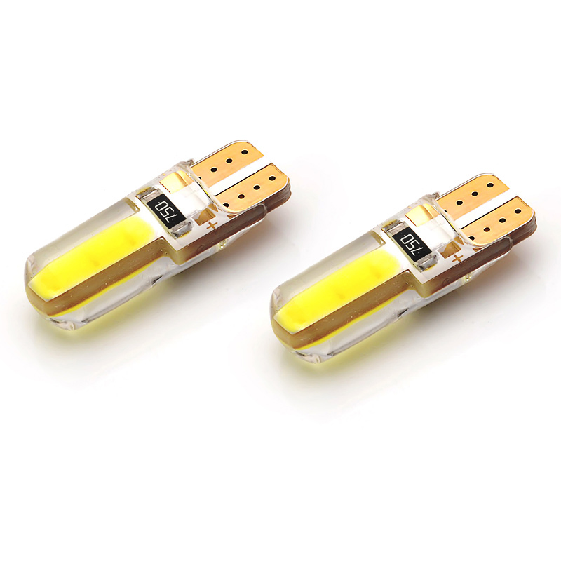 10X <font><b>led</b></font> T10 w5w Silica gel car interior light 194 auto Wedge bulb marker lamp reading dome parking light COB 12V white image