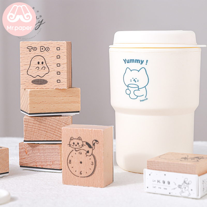 mr-paper-8-designs-rubbit-sheep-style-sketch-wooden-rubber-stamps-for-scrapbooking-decoration-diy-craft-standard-wooden-stamps