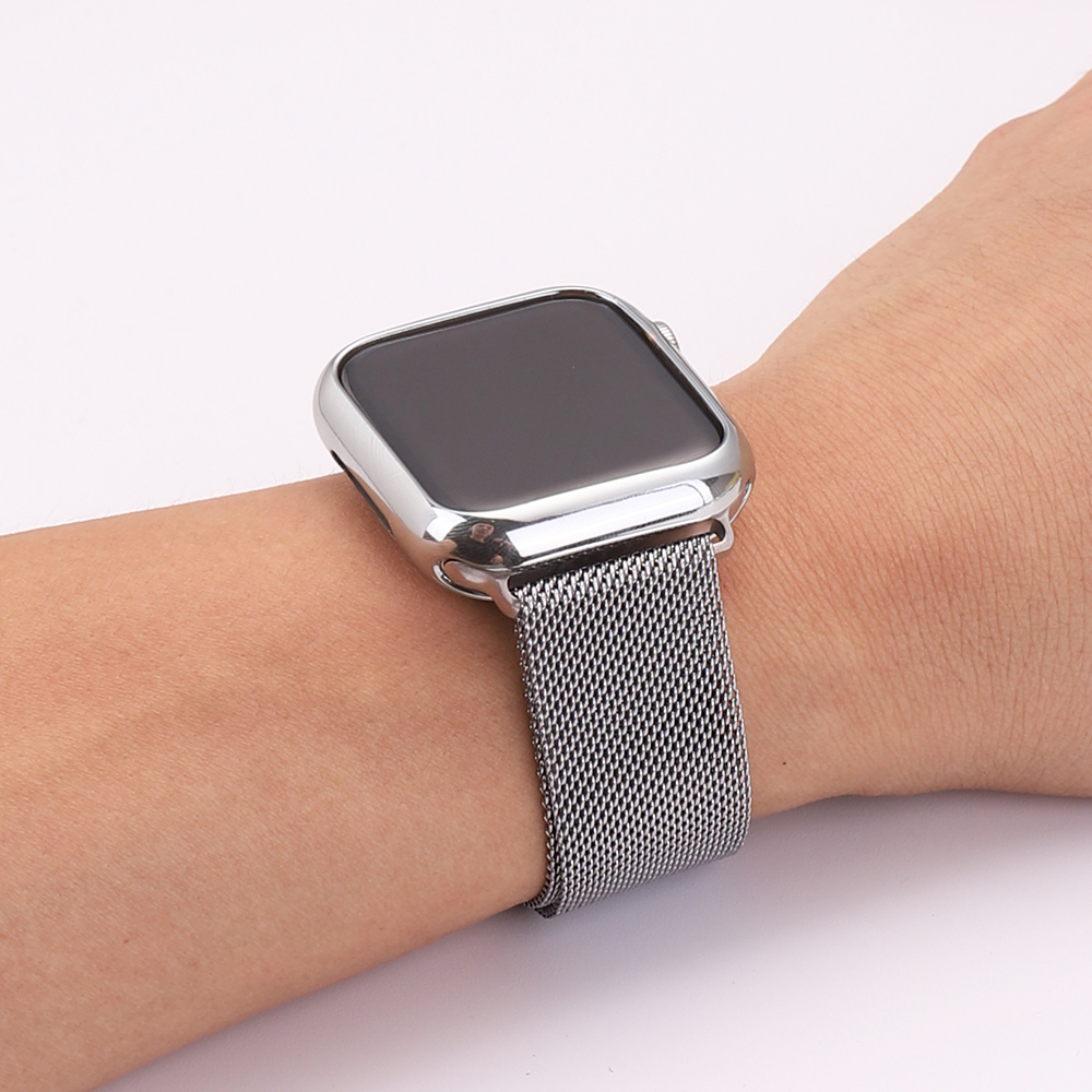 For Apple Watch case band iwatch 5 strap 42 mm 38 mm Milan stainless steel strap bracelet watch Apple Watch 4 3 21 in Watchbands from Watches