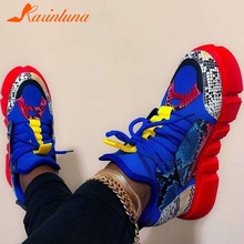 Karinluna Brand Fashion INS Hot Sale 2020 Shoelaces Multi colors Height Increased Sneakers