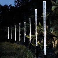 8 piezas de tubo Solar de burbujas de luz palo lámpara Solar camino de césped decoración de paisaje acrílico para jardín al aire libre juego de lámparas de Patio