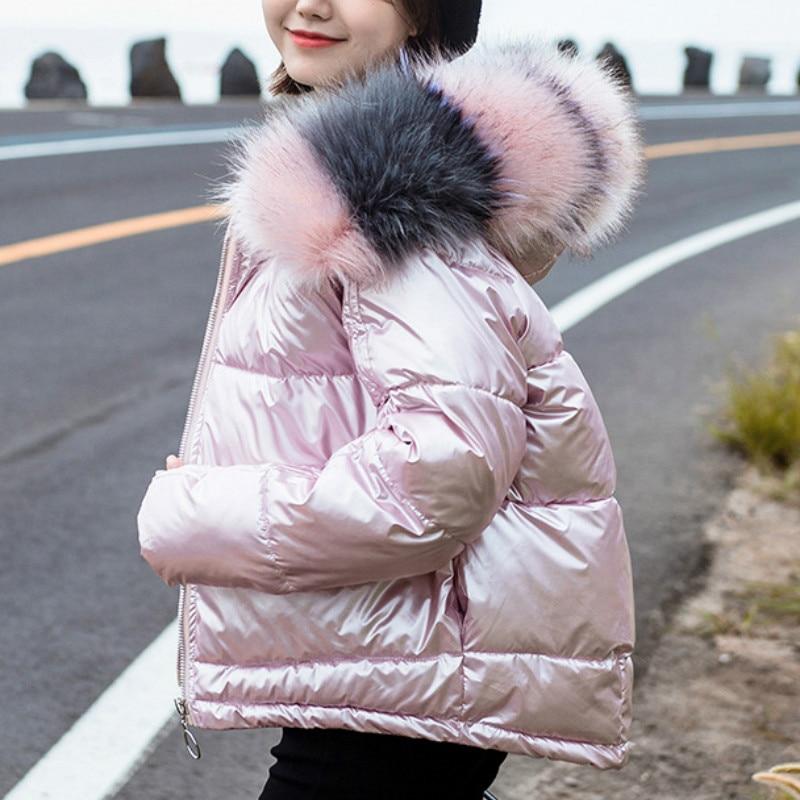 Womens Metallic Shiny Winter Parka Padded Puffer Hooded Ladies Jacket Coat Gift