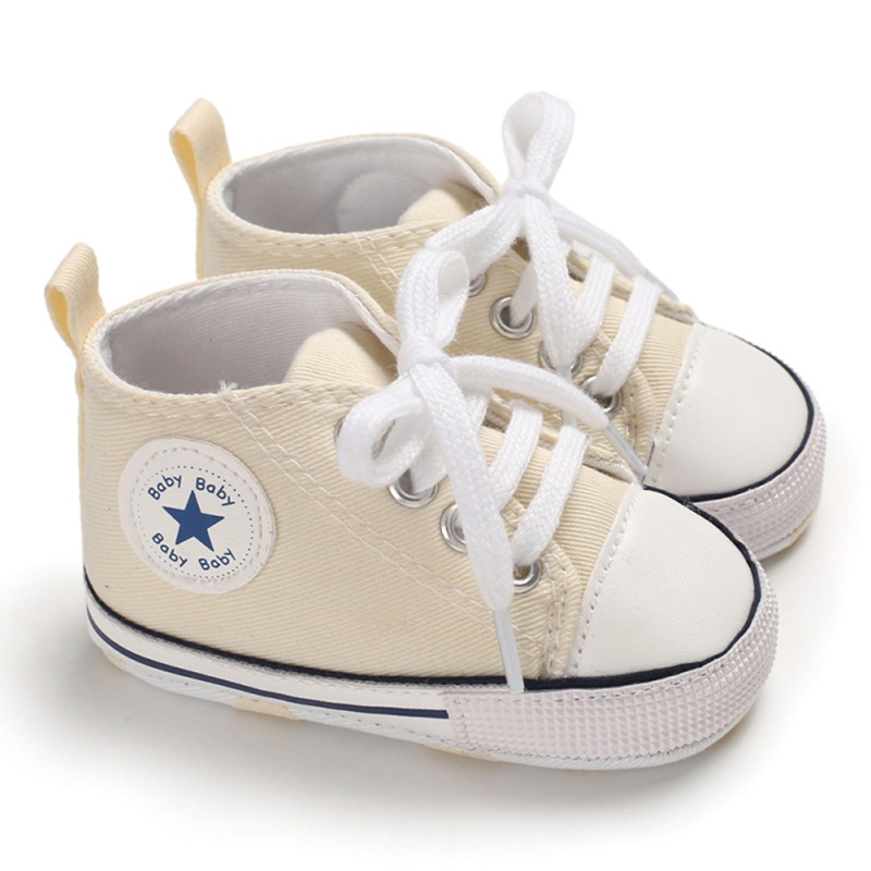 New Baby Shoes Boy Girl Star Solid Sneaker Cotton Soft Anti-Slip Sole Newborn Infant First Walkers Toddler Casual Canvas Crib Sh