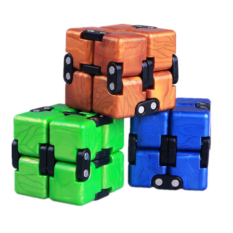 Qiyi 2x2x2 Antistress Cube Unlimited Cube 3 Colors Pocket Mini Infinite Cube Twist Puzzle Educational Toys For Children Gift