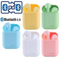 I7Mini-2 TWS auricolari Wireless Bluetooth 5.0 auricolari opachi auricolari cuffie Wireless per xiaomi iphone scatola di ricarica