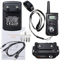 Waterproof Rechargeable LCD Electric Remote Dog Training Shock Collar 500 Yard Snoring Device For Large Dogs EU Plug