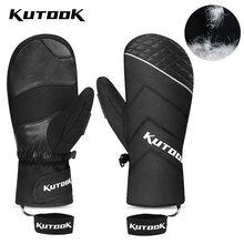 Kutook пуховые лыжные перчатки ветрозащитные Термальность сноуборд