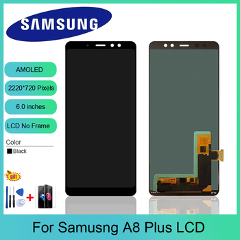 AMOLED For Samsung Galaxy A8 Plus 2018 A730 LCD Display Touch Screen Digitizer Assembly Replacement For Samsung A730 A730F LCD