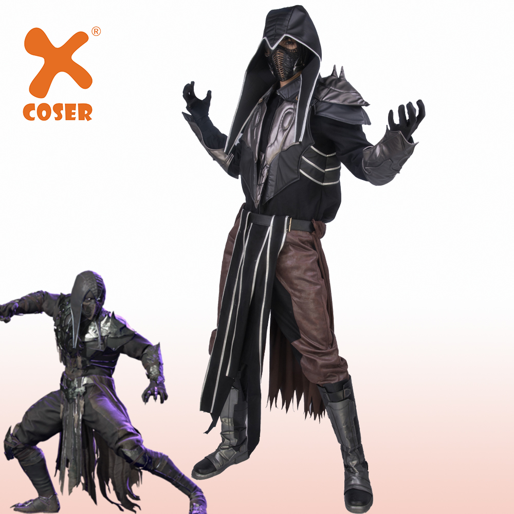Xcoser Noob Saibot Costume Mortal Kombat 11 Cosplay Costume Halloween Cosplay Dress  Professional Costume For Man High Quality