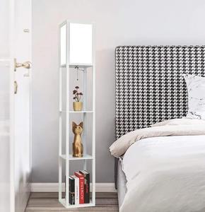 Image 4 - Ganeed Lámpara de pie con plataforma LED luz alta de madera para Interior, iluminación de pie moderna para dormitorio, sala de estar, estudio, hogar