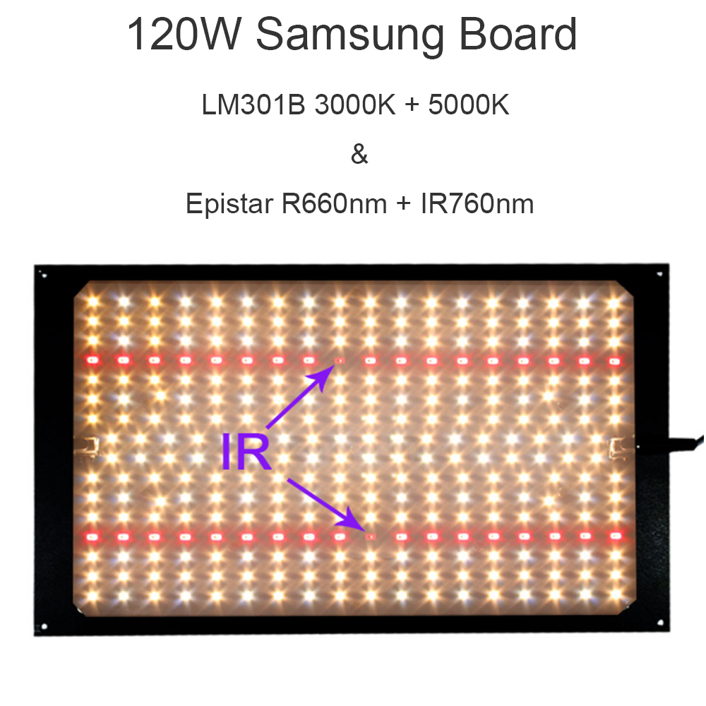 Samsung LM301B LED 288pcs PCBA Quantum Board 3000K 5000K 660nm 760nm DIY LED Plant Grow Light