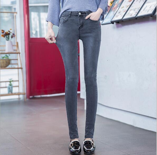 Skinny Jeans Woman New  High Quality Women Fashion Slender Jeans Women Wash Casual Slim Stretch Potlead Jeans