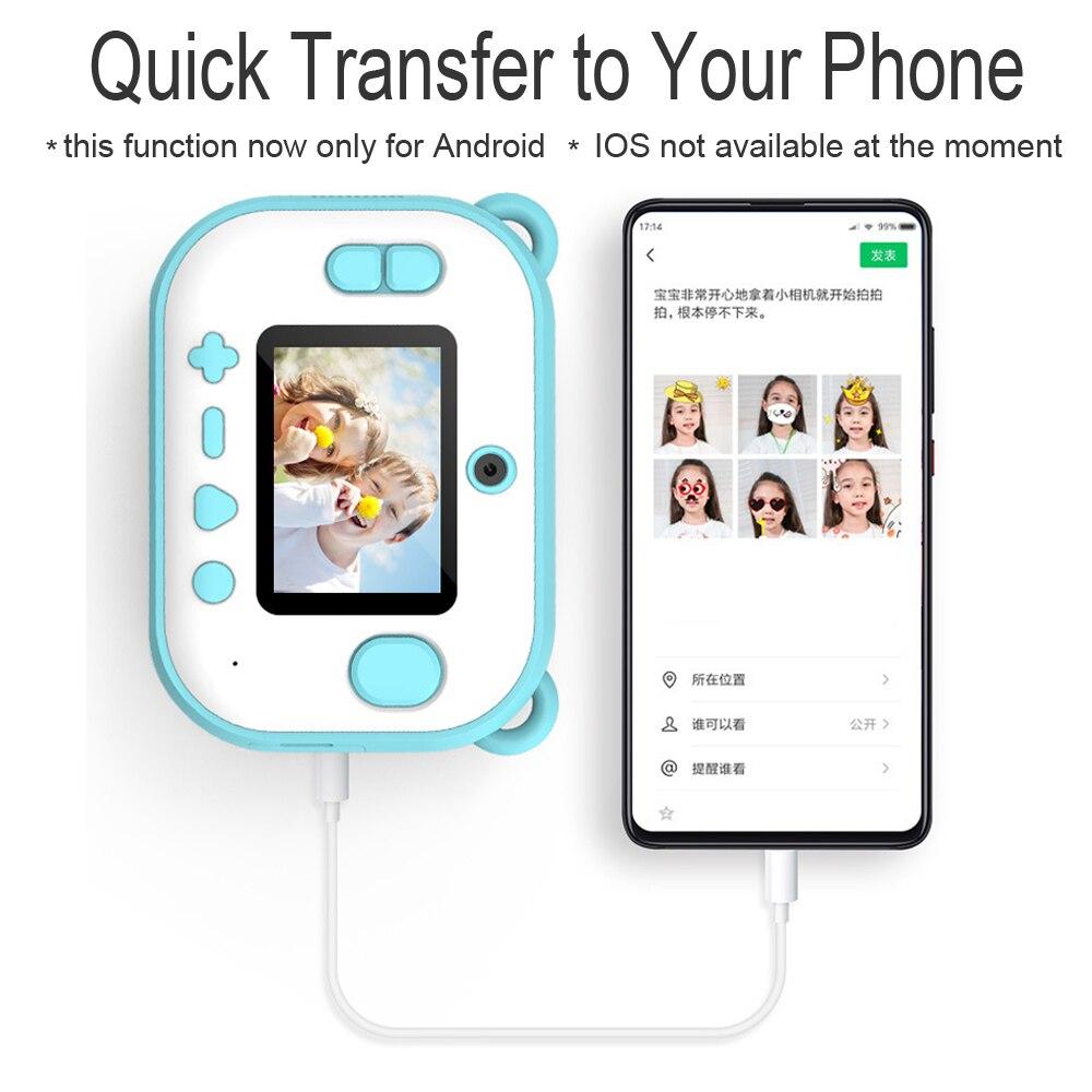 C3 pro mini instant print camera aparat fotograficzny dla dzieci bezatramentowa kieszonkowa drukarka fotograficzna ekran hd do selfie smart phone birthday gift