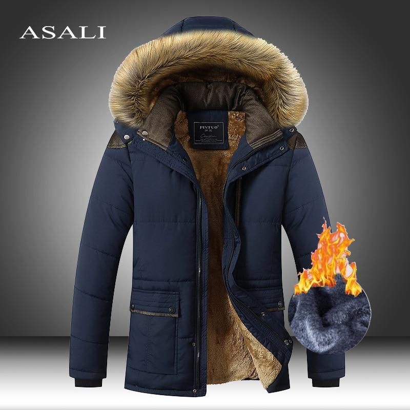 M-5XL меховой воротник с капюшоном для мужчин зимняя куртка 2020 Новая модная теплая подкладка из шерсти, мужские куртки и пальто, ветрозащитная...