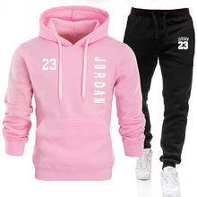 2021 spring and autumn brand fashion women's two-piece striped sportswear ladies hooded top outdoor sports pants track suit suit