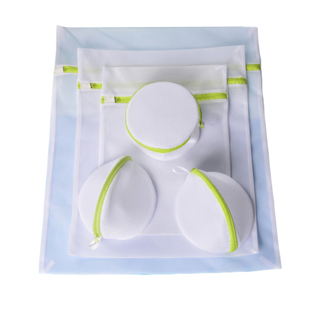 Green Laundry Bag For Washing Machines Mesh Bra Underwear Bag For Clothes Clothes Protector Wash Bra 70G Fine Mesh