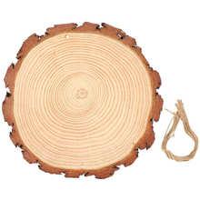 Niezawodne dyski ze zdrowymi drewnianymi kółkami wytrzymały dwustronny polerowany drewniany ornament do ręcznego malowania tanie tanio TOPINCN CN (pochodzenie)