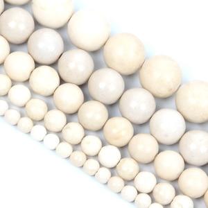Круглые бусины из натурального камня, незакрепленные бусины для рукоделия, браслета, 4-12 мм