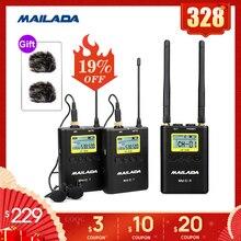 WM 10 профессиональный беспроводной микрофон UHF, петличный микрофон, приемник, передача для dslr камер sony canon Osmo Pocket WM10