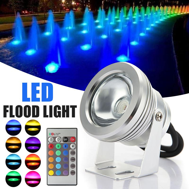 10W LED RGB Floodlight Led Light Waterproof IP68 Outdoor Lighting Fountain Focos LED Piscina Lamp Light