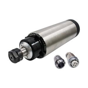 Image 2 - Livraison gratuite livraison rapide 1 ensemble 1.5 kw 110 v/220 v/380 V broche refroidie par air + VFD + 80mm support + 1 ensemble ER11 pour CNC