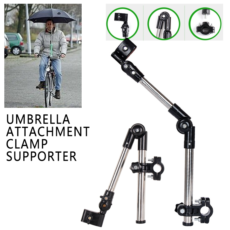 Stainless Steel Umbrella Stands Any Angle Swivel For Wheelchair Bicycle Umbrella Connector Stroller Holder Gear Tool
