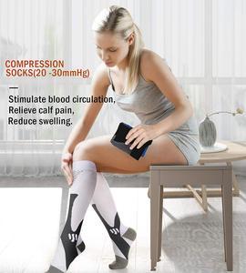Image 4 - Calcetines de compresión para correr, para hombre y mujer, 20 30mm Hg, para maratón, ciclismo, fútbol, venas varicosas