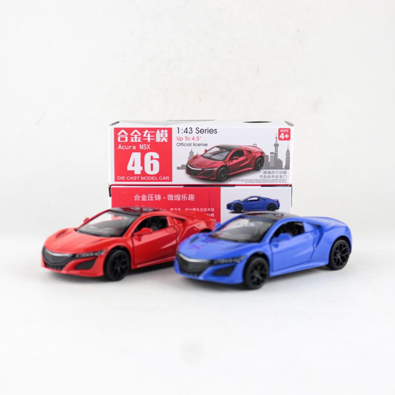 1:39 Scale Acura NSX Alloy Pull-back Car Diecast Metal Model Car For Collection Friend Children Gift
