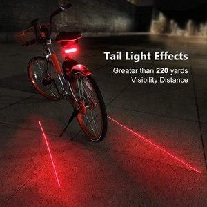 Беспроводной велосипедный задний светильник USB Перезаряжаемый велосипедный светильник аксессуары для велоспорта дистанционный поворотны...