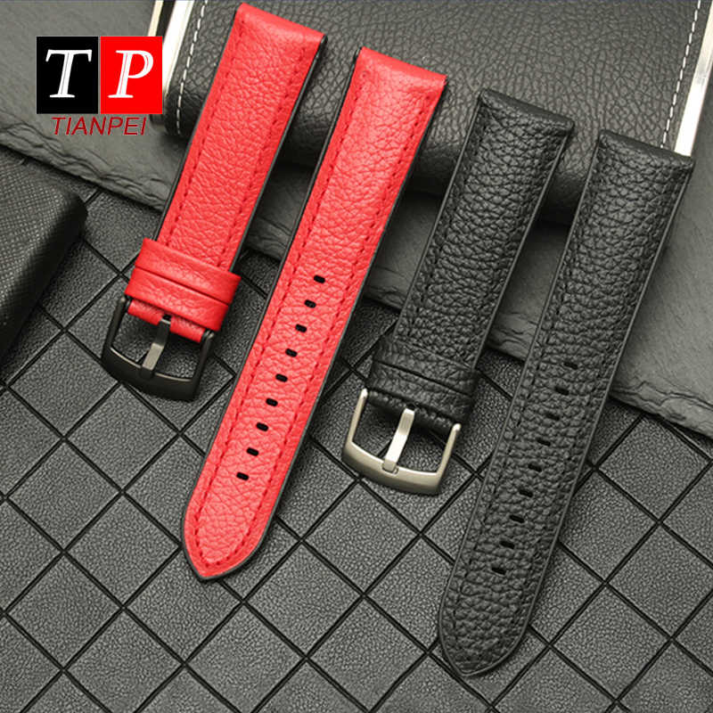 Kulit Asli 22 Mm Watch Tali Untuk Armani AR1968/1969/1970/1971/1979/1808 Silicone Watch Band ganti Tahan Air Gelang Pria